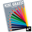 12 colouring pencils Mini Grafic Djeco