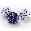 Set of 3 Juggling Balls 80g Ø60mm