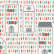 Wallpaper Strip City - Little Big Room Little Big Room by Djeco