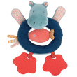 Ring Rattle Toy Hippo Les Papoum - Moulin Roty Moulin Roty
