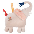 Musical Doll Comforter Elephant Les Papoum - Moulin Roty