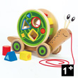 Walk-A-Long Snail - Wooden Pull-along Toy Hape Toys