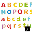 ABC Magnetic Wooden Letters (52 pieces)