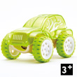 Bamboo Model Car Mighty Mini Trailblazer (fluo green) Hape Toys