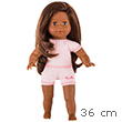 Ma Corolle Chocolate Brunette with brown eyes 36cm Doll