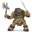 Dwarf warrior with axe - Fantasy World Papo