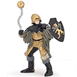 Black & bronze officer with mace - Medieval Era Figurine Papo