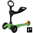 Mini Micro Scooter 3-in-1 - Scooter & Ride-on - Sporty Green Micro Mobility Scooters & Kickboards