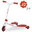 Y Fliker Junior J2 rouge - Trottinette 3 roues autopropulsée Y Volution