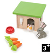 Bunny and Guinea - Wooden Accessories for dollhouse