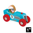 Blue Retromotor - Wooden Model Car - Story Racing Janod