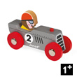 Silver Retromotor - Wooden Model Car - Story Racing Janod