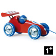 Red and blue Pull-along racing car - Wooden Toy Vilac