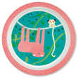 Baby Plate The Sloth Ø21cm - The Jungle Petit Jour