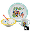 4-pieces Gift Box Elmer Elephant Tableware for kids Petit Jour