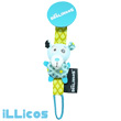Illicos Polar Bear Pacifier Holder - Déglingos Nursery