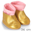Golden Boots for dolls 36cm - Mademoiselle Corolle