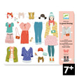 Le grand dressing - Paper Dolls - 3 personnages et 110 vêtements Djeco