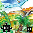Dinosaurs - Observation Puzzle 100 pieces Djeco