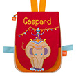 Back bag with embroidered first name - Circus Elephant
