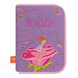 Health book cover with embroidered first name - Elf with rose L'Oiseau Bateau