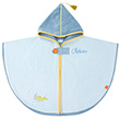 Personalized Bath Cape - Blue Dragon