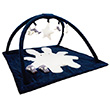 Square Playmat with Music Angel Bunny Navy 90cm