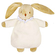 Soft Bunny Fluffy with Rattle Ivory 20cm