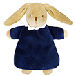 Soft Bunny Fluffy with Rattle Navy Blue 20cm Trousselier