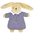 Soft Bunny Fluffy with Rattle Navy Stripes 20cm Trousselier