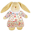 Musical Bunny Fluffy Red Flowers 25cm Trousselier