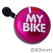 Bike Bell I Love My Bike Pink - Liix Ding Dong Bell Ø80mm