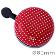 Bike Bell Polka Dots Red - Liix Ding Dong Bell Ø80mm Liix