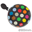 Polka Dots Big Mix Black - Liix Ding Dong Bell Ø80mm Liix