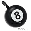Bike Bell 8 Ball Black - Liix Mini Ding Dong Bell Liix
