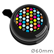 Bike Bell Polka Dots Mix Black - Liix Colour Bell Ø60mm Liix