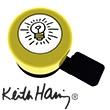 Bike Bell Keith Haring Lightbulb - Liix Micro Bell Ø35mm Liix