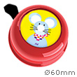 Bike Bell Mouse Red - Liix Colour Bell Ø60mm Liix