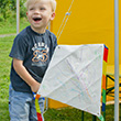 DIY Eddy Kite with 6 wax crayons Colours in Motion