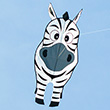 Stripe Buddy Zebra Single-line Kite 69x108cm Colours in Motion