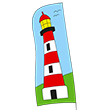 Lighthouse Wind Banner 100cm Wolkenstürmer