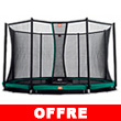Trampoline BERG InGround Favorit avec filet de protection Confort BERG