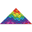 Rainbow Triangles 9ft Delta 259x135cm Premier Kites & Designs