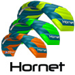 Peter Lynn Hornet 2016 with control bar 6.0m² - Teal/Lime