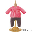 Raspberry Blouse & Denim for 30cm Baby Doll