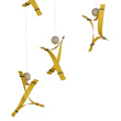 Free Mind - Yellow - Decorative Modern Mobile Flensted Mobiles