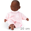 Mini Calin Gracieux Baby Doll 20cm Pink Stripes Green Eyes Corolle