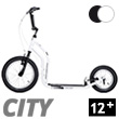 City II Scooter 12+ - WHITE/BLACK Yedoo