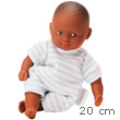 Mini Calin Gracieux Baby Doll 20cm Blue Stripes Brown Eyes Corolle