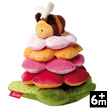 Flower Tower with Bee - PlayQ Soft Toy Sigikid